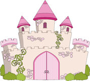 Magic fairytale castle stock illustration