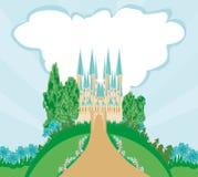 Magic FairyTale Princess Castle Royalty Free Stock Photos