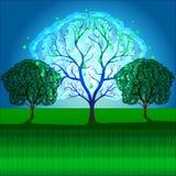 Magic, fantasy, Mystic tree stock illustration