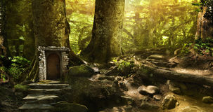 Magic fantasy world Stock Photo