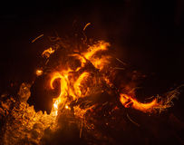 Magic fire Stock Images
