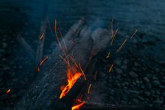 Magic fire Stock Photo
