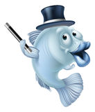 Magic fish cartoon Royalty Free Stock Photography