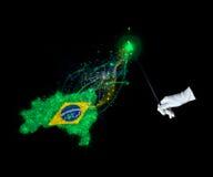 Magic flag of Brazilia Royalty Free Stock Photography