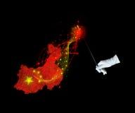 Magic flag of China Stock Photos