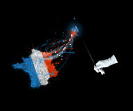 Magic flag of France Stock Photography