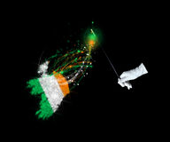 Magic flag of Ireland Royalty Free Stock Images