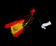 Magic flag of Spain Stock Photos