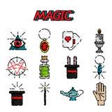 Magic flat icon set Stock Images
