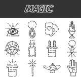 Magic flat icon set Stock Image