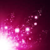 Magic floral abstract background Royalty Free Stock Images