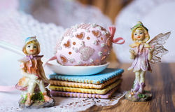 Magic flowerfairies  easteregg dream fairytale Stock Images