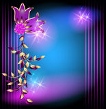 Magic flowers and stars Stock Photos