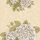 Magic flowers vintage beige background Royalty Free Stock Photography