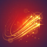 Magic flying stars. In vector Stock Photography