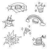 Magic food set vector illustration