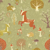 Magic forest seamless pattern Stock Photography