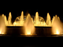 Magic fountain in Barcelona stock photos