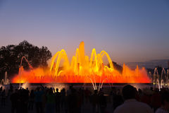 Magic fountain at Barcelona Royalty Free Stock Photography