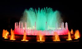 Magic fountain of Barcelona Royalty Free Stock Photos