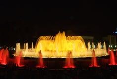 Magic Fountain of Barcelona. Magic Fountain in Montjuic - Barcelona, Spain Royalty Free Stock Photos