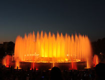 The Magic Fountain - Barcelona Stock Images