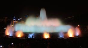 The Magic Fountain - Barcelona Stock Image