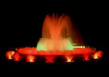 Magic fountain in Barcelona royalty free stock image