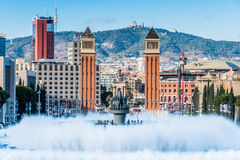 Magic Fountain. In Barcelona Stock Images