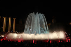 Magic fountain of Barcelona Stock Image