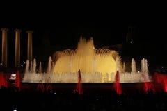 Magic fountain of Barcelona Stock Photography
