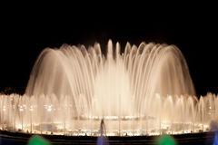 Magic Fountain in Barcelona Royalty Free Stock Photo