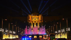 Magic Fountain in Barcelona stock video footage