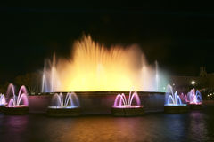 The Magic Fountain, Barcelona, Spain Royalty Free Stock Images