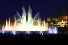 Magic fountain in Barcelona, Spain Stock Photos