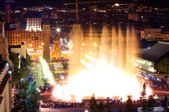 Magic fountain in Barcelona, Spain Stock Images