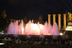 Magic fountain of Barcelona Stock Photography