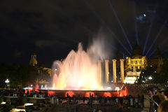 Magic fountain of Barcelona Stock Images