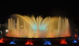 Magic Fountain of Barcelona, Spain Royalty Free Stock Photo