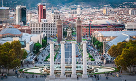 Magic Fountain, in Barcelona Spain Stock Photo