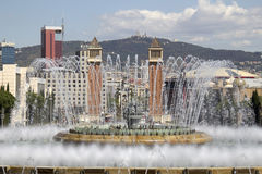 Magic Fountain in Barcelona Stock Image