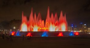The Magic Fountain (Font magica) in Barcelona Royalty Free Stock Photo
