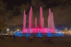 The Magic Fountain (Font magica) in Barcelona Royalty Free Stock Images