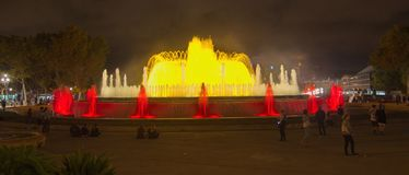 The Magic Fountain (Font magica) in Barcelona Stock Photo