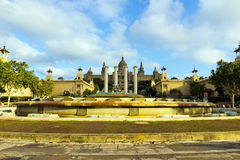 Magic Fountain, landmark, Spain. Royalty Free Stock Image