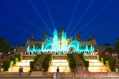 Magic Fountain light show, Barcelona Royalty Free Stock Photo