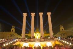 Magic Fountain of Montjuic Stock Images