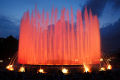 Magic fountain of Montjuic Royalty Free Stock Image