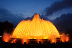Magic fountain of Montjuic Stock Photo