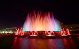 Magic Fountain of Montjuic, Barcelona Royalty Free Stock Image